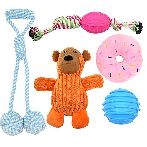 Supet Hunde Spielzeug Kauspielzeug Welpenspielzeug Unzerstörbar Zahnreinigung Geeignet Hundeseile aus Baumwolle Hundespielzeug Intelligenz für Kleine Hunde Mittelgroße Hunde