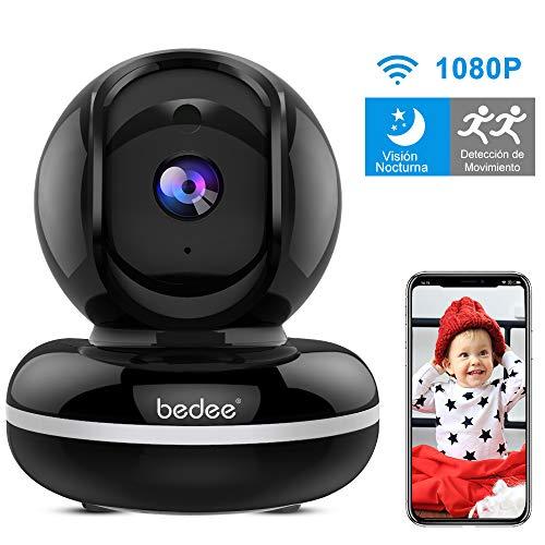 Camara Vigilancia WiFi Interior, Camara Vigilancia Bebe con Audio Bidireccional| Alerta de Movimiento| Servicio de Nube|Seguridad WiFi FHD1080p| Compatible con iOS/Android