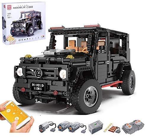 Juego de Edificios de automóviles de Technic para Mercedes Benz G65 AMG Off-Road Car, 2.4G RC Offroader Construction Conjunto con Motores, Bloques de 1600 Piezas Compatible con Technics Lego