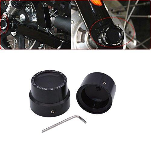 TUINCYN Black Motorcycle Front + Rear Axle Cover Tapa de tuerca Kit...