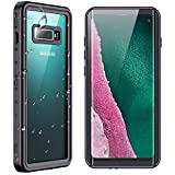"SPIDERCASE for Samsung Galaxy S10 Waterproof Case, Built-in Screen Protector Fingerprint Unlock with Film, Shockproof Full Body Cover Waterproof Case for Samsung Galaxy S10 5G 6.1"", Black/Clear"