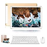 Tablet 10 Pulgadas 4G Full HD 3GB RAM 32GB ROM/128GB Dual SIM Dual Cámara 8500mAh BateríaTablet PC Android 9.0 Quad-Core Tablet WiFi/Bluetooth/GPS/OTG(Oro)