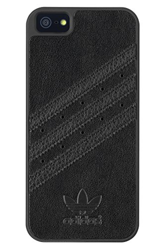 adidas Originals 16360-Cover in Silicone per Apple iPhone 5/5S, Colore: Nero