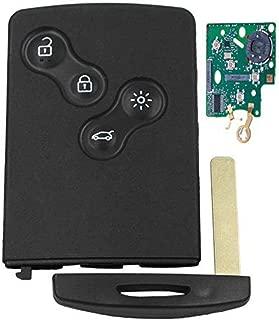 HERCHR Remote Key, 4 Button Remote Key Smart Card X PCF7953XTT Chip for Renault Clio4 Clio 4, Black