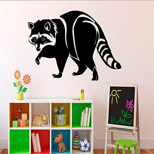 tzxdbh Wilde dieren sticker wasbeer sticker vinilos decoratieve muursticker voor kinderkamer sjablonen voor muren 33 x 57 cm