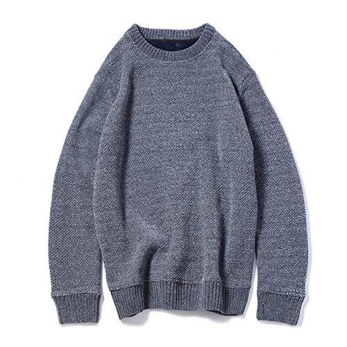 Pullover Herren Rundhals Plus Samt Verdickung Herren Sweater Bottoming Shirt Gr. Medium, dunkelgrau