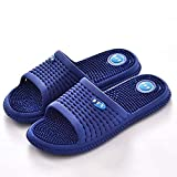 Nwarmsouth Slip-on Indoor House, Zapatillas de baño de Verano para Hombres, Sandalias de meridiano Antideslizantes para pies de Mujer, Azul Oscuro_42, Sandalias de Fitness