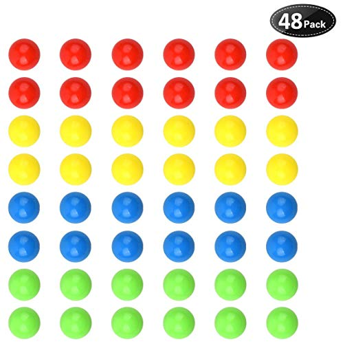 Hotusi 48Pcs Game Replacement Marbles Balls Compatible with Hungry Hungry Hippos