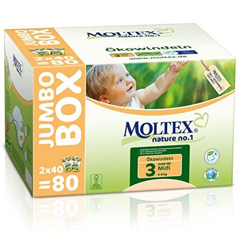 MOLTEX Nature no.1 Ökowindel Midi Jumbo, 80 Stück