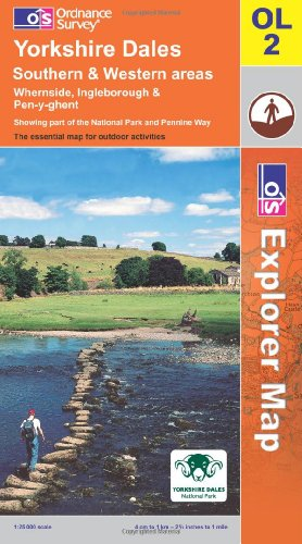 OS Explorer map OL2 : Yorkshire Dales: S & W areas
