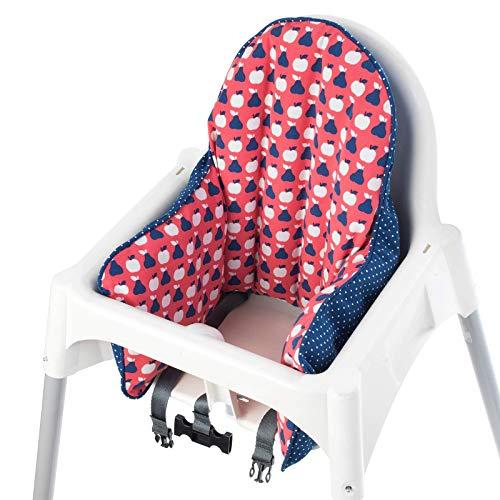 IKEA - Funda de cojín para trona de silla de paseo, color rojo y azul (solo funda)