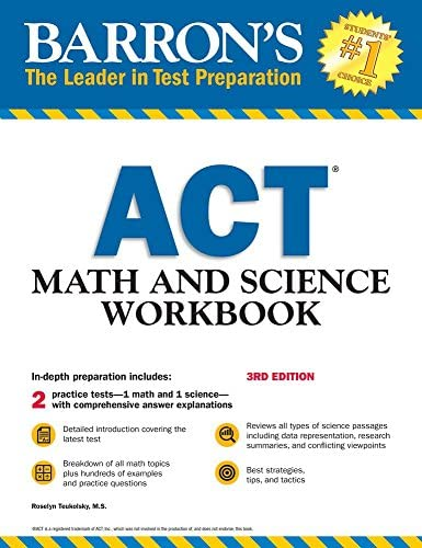 ACT Math and Science Workbook Barron s Test Prep product image
