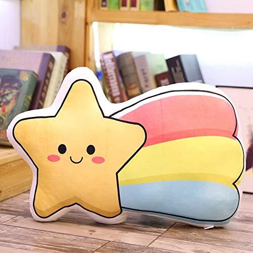 PBCX Colorido Cielo Nube Luna arcoíris Estrella Felpa Almohada Juguetes para niños Suave sofá cojín bebé durmiendo niñas Regalo de cumpleaños 50 cm