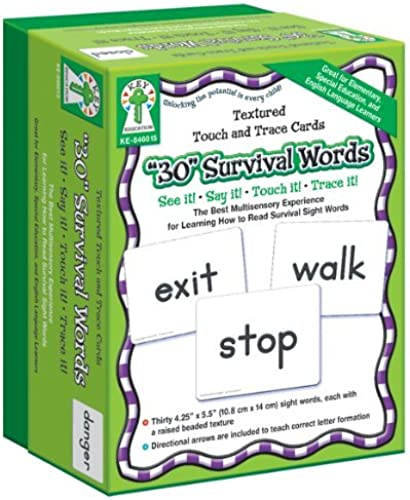 Key Education Publishing Texturot Touch and Trace Cards  30 Survival Words by Key Education Publishing
