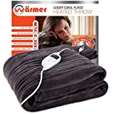 Warmer Luxury Electric Heated Throw Over Blanket 160x120cm with Digital Controller- Timer