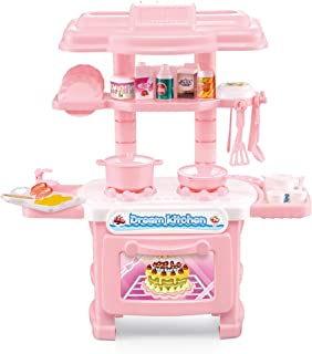 Pretend Kitchen Dishes Cookware Playset Toy Set for Kids