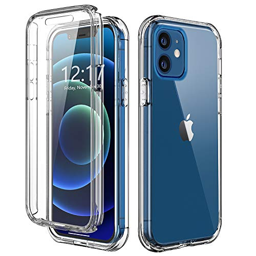 TOPSKY Case Compatible with iPhone 12 Pro/iPhone 12 6.1 inch 2020,Built-in Screen Protector Full Body Shockproof Heavy Duty Protection Durable Protective Strong Phone Cases Cover Shell,Clear