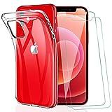 KEEPXYZ Coque iPhone 12/12 Pro, avec Protection d'écran Verre Trempé pour iPhone 12/12 Pro,...