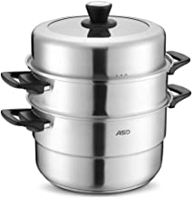 JLCK Three-layer 34CM Double Bottom Stainless Steel Steamer Can Be Used As A Three-layer Double-layer Steamer With Steamer...