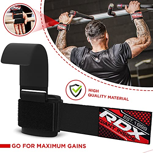 RDX Zughilfen Klimmzughaken Gewichtheben Krafttraining Lastzughilfe Handgelenkstutze - 5