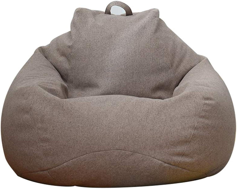 MIMI KING Sitzsack Super Soft Lazy Sofa Chair Kreative Mode Mbel Design für Wohnzimmer Schlafzimmer Balkon,braun,M