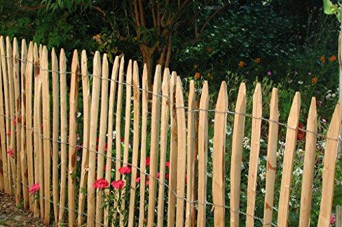 Gartenwelt Riegelsberger 1 Stück Zaunlatte Kastanie 150 cm lang/gespalten - geschält - einseitig angespitzt/Kastanienholz/Stakete/Staketenzaun