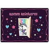 EinhornLiebe® Fußmatte Einhorn KommReinhorn Größe: 50 x 70 cm Coole Haustür Türmatte Indoor &...