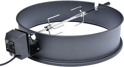 Onlyfire BRK-6025 Set de asador Ring para Barbacoa para 57 cm carbón Vegetal Barbacoa, Weber y Muchos Otros Modelos, Asador, Tenedor, Motor de Parrilla (Esmaltado)