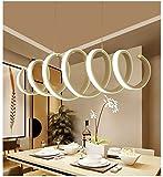 Moderno LED Lámpara colgante Lámpara de techo de resina acrílica Comedor,...