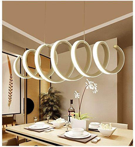 Moderno LED Lámpara colgante Lámpara de techo de resina acrílica Comedor, Iluminación colgante de isla LED de araña, Naturaleza blanco, 70 cm [Clase de eficiencia energética A ++], Máx. 50W Acabado pi