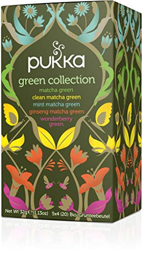 PUKKA Bio Green Collection Tee, 1er Pack (20 x 1,5g Teebeutel) - BIO