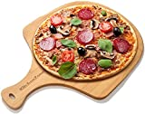 Kitchen Zone Bamboo Pizza Peel, Durable Wooden Pizza Board with Handle