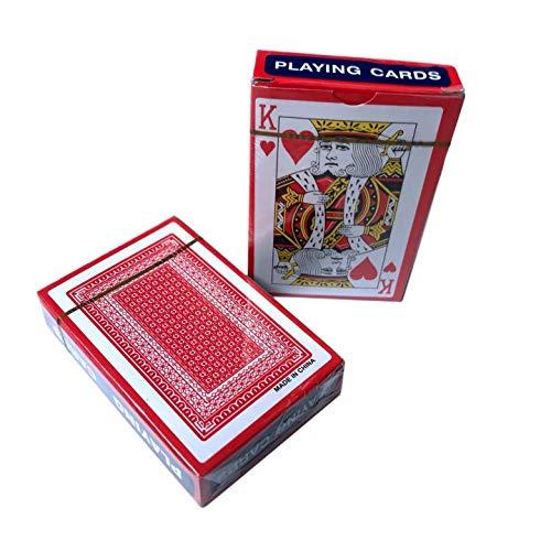 Senbos 2X Pokerkarten Poker Size Standard Index, 12 Kartenspiele (6 blau und 6 rot), für Blackjack, Euchre, Canasta, Pinochle-Kartenspiel, Casino Grade