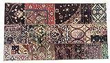 Alfombra Salón&Dormitorio Fibra de Poliester Fregable Antideslizante Collage (100x140cm)