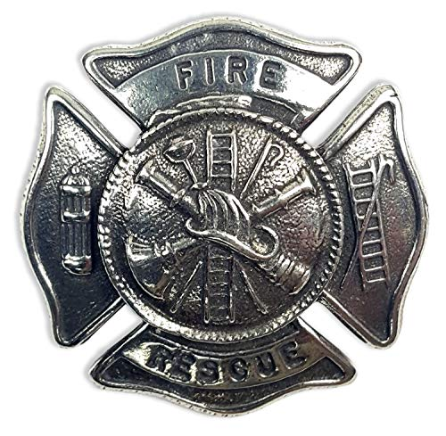 Gaelic Themes Fire Rescue Firefighter Cap Badge/Brooch - Made in Scotland