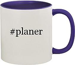 #planer - 11oz Hashtag Ceramic Colored Inside & Handle Coffee Mug, Deep Purple