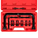 Orion Motor Tech 10pcs Solid Valve Spring Compressor, Automotive Compression C-Clamp Tool Service Kit for Motorcycle, ATV, Car, Small Engine Vehicle Equipment
