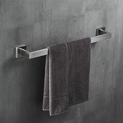 Handtuchstange, Badetuchhalter Handtuchhalter aus Mattem Gebürstet Edelstahl Wandmontage, 60 cm