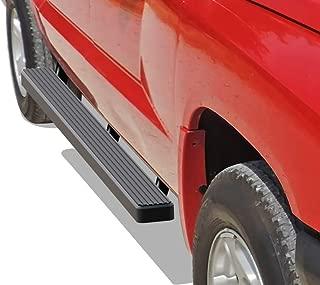 APS iBoard Running Boards 4 inches Matte Black Custom Fit 2005-2011 Dodge Dakota Quad Cab Pickup 4-Door (Nerf Bars Side Steps Side Bars)