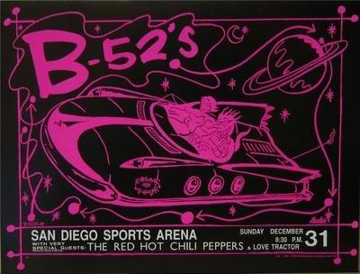 Frank Kozik B-52'S Rhcp Rock Concert Poster San Diego