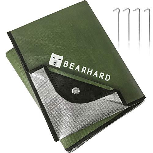 Bearhard 3.0 Heavy Duty Emergency Blanket, Emergency Tarp, Insulated Blanket, Thermal Waterproof Survival Space Blanket for Hiking, Camping