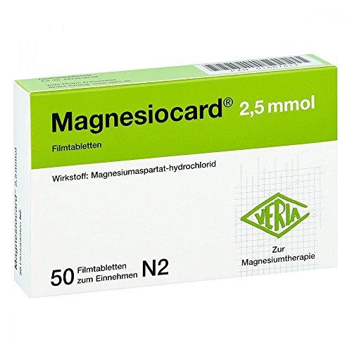 Magnesiocard 2,5 mmol, 50 St. Filmtabletten