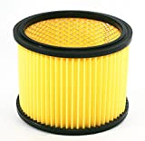 Folding filter suitable for Einhell wet dry vacuum cleaner filter suitable for dry <span class='highlight'><span class='highlight'>vacuuming</span></span> filter cartridge with steel inner grille, sturdy design, washable.