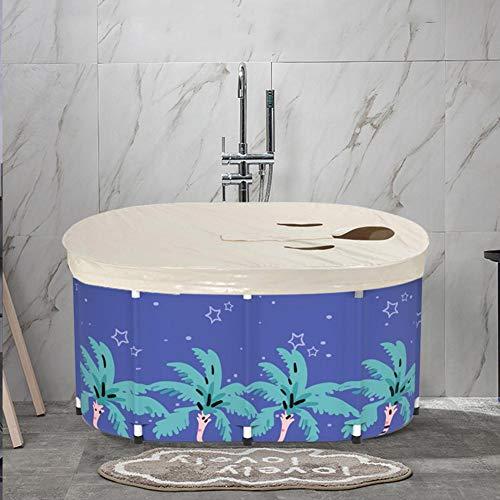 Bañera plegable para adultos, bañera de vapor para sauna, baño familiar separado, bañera de hidromasaje para ducha, espesado con espuma térmica para mantener la temperatura,para baño de hielo