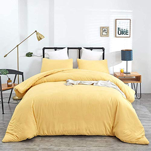 Jumeey Yellow Comforter Set Full Size Comforters for Queen Bed Girls Light Yellow Bedding Luxury Pale Yellow Comforter Sets Queen Women Men Teen Boys Kids Modern Yellow Quilt Light Color Bedding Full