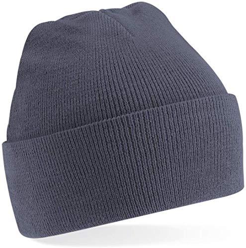 Shirtinstyle Bonnet en Tricot de Laine, Fashion-Hat, Bonnet d'hiver, Taille Unisexe Beaucoup de Couleurs - Graphite, One Size