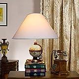 OGUAN Lámpara Ojo Simple Manera de la Resina de Mesa Lámpara Globo hogar del Viaje Telescopio Libros Creativo for niños de la lámpara LED E27 1 * (34 * los 51CM) Clásico Noble