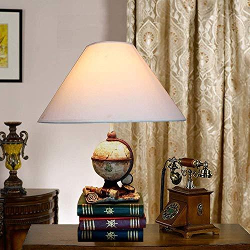 YO-TOKU Resin Fashion Simple Table Lamp Globe voyage Telescope Boeken creatieve oog Lamp for Kinderen LED Lamp 1 * E27 (34 * 51cm) Classic Noble Verrekijkers Clear