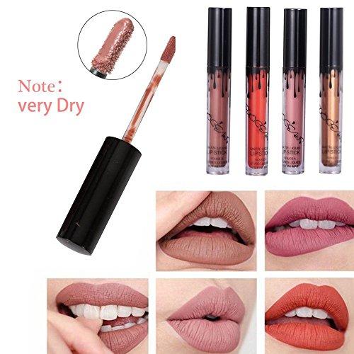 Richoose 16 Colores Set Líquido Maquillaje Líquido Maquillaje Lápiz Mate Lápiz labial Brillo Labial Super Larga duración (16 piezas)