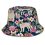 GMGMJ Sombrero de verano con diseño floral francés para pescador